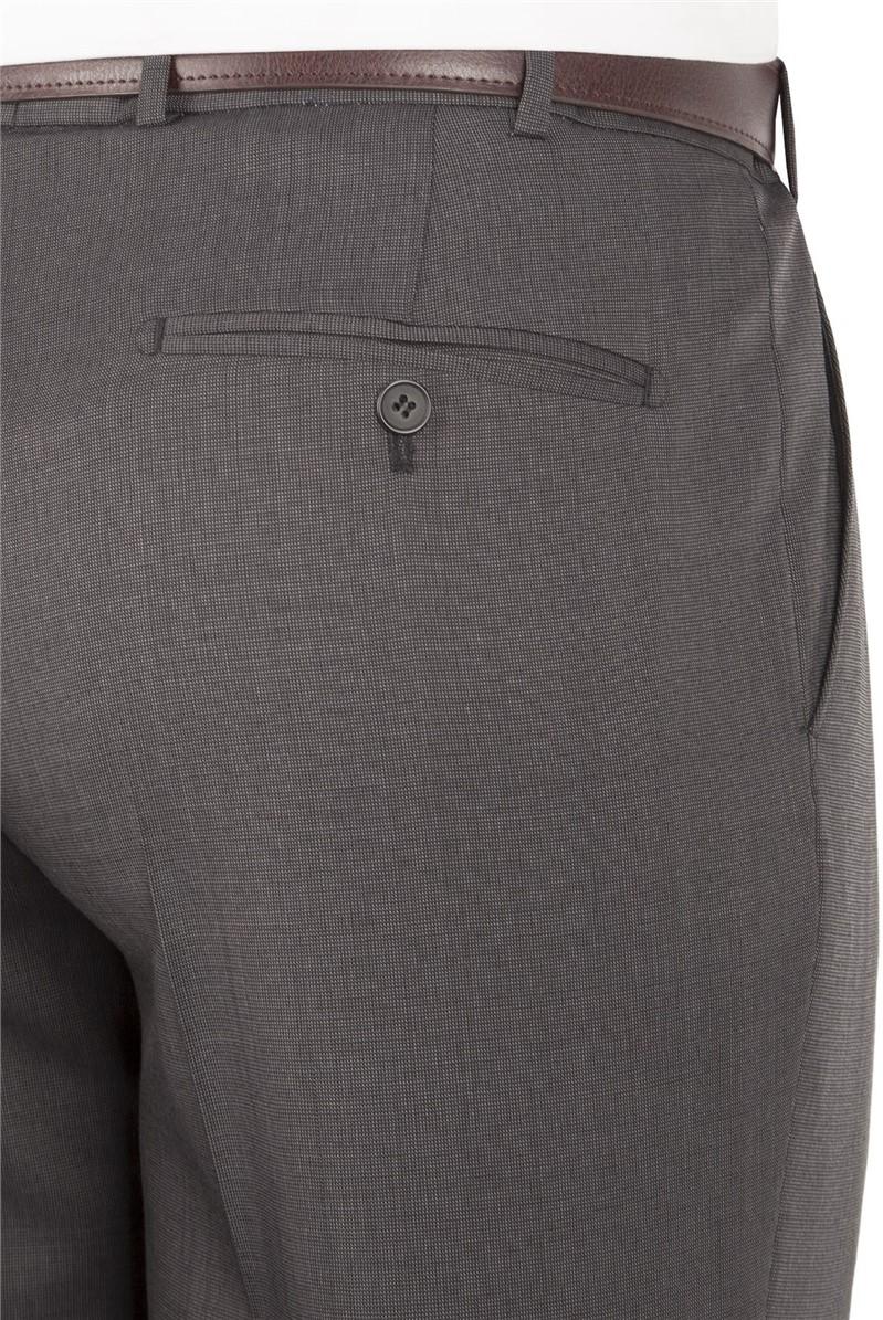 Grey Micro Regular Fit Suit Trouser