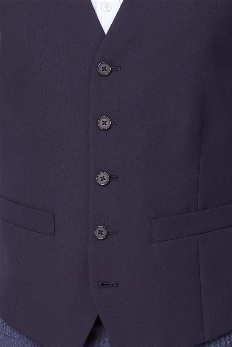 Navy Plain Washable Waistcoat