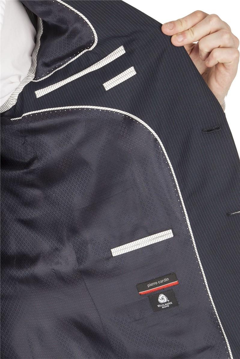Navy Multi Stripe Regular Fit Suit