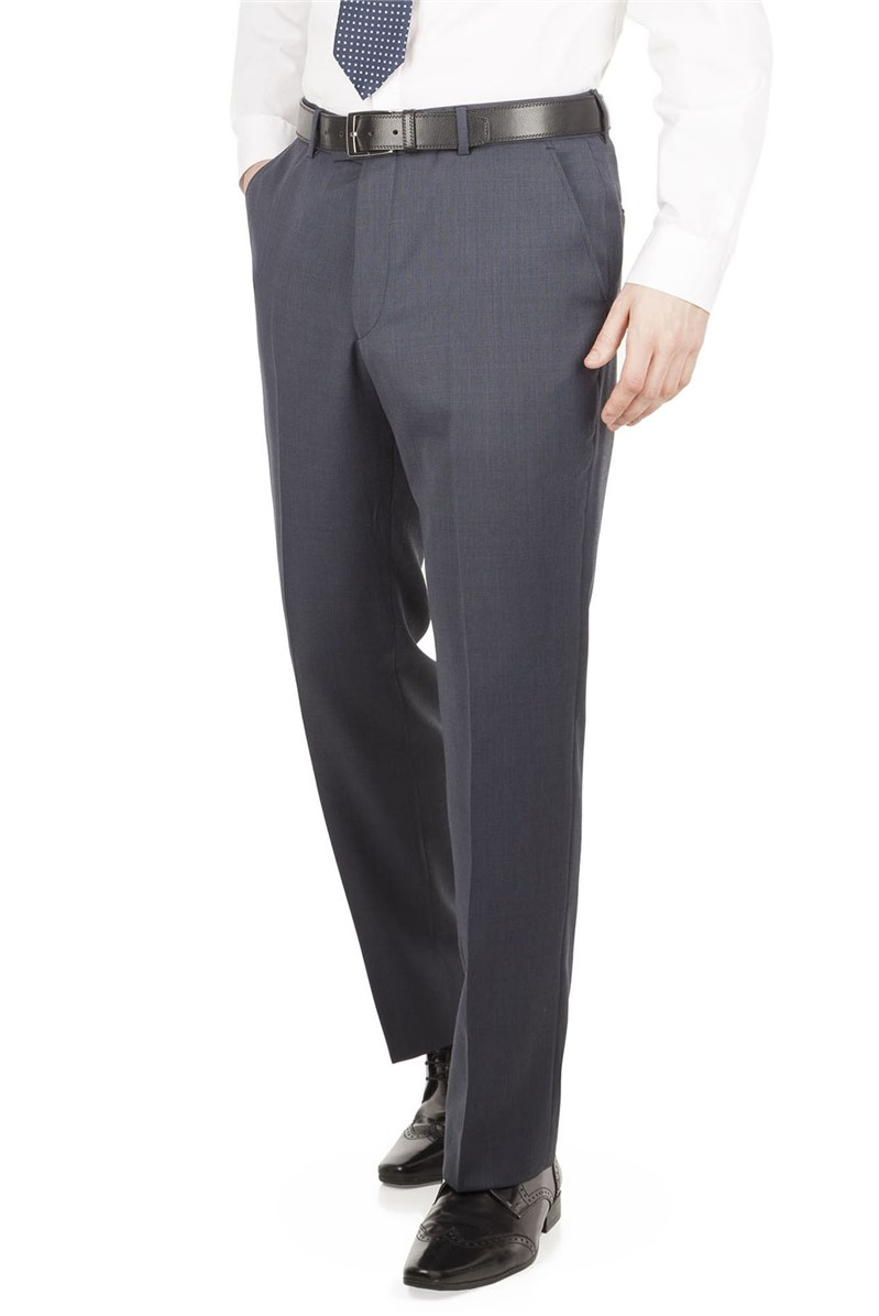 Blue Nail Head Regular Fit Suit Trouser