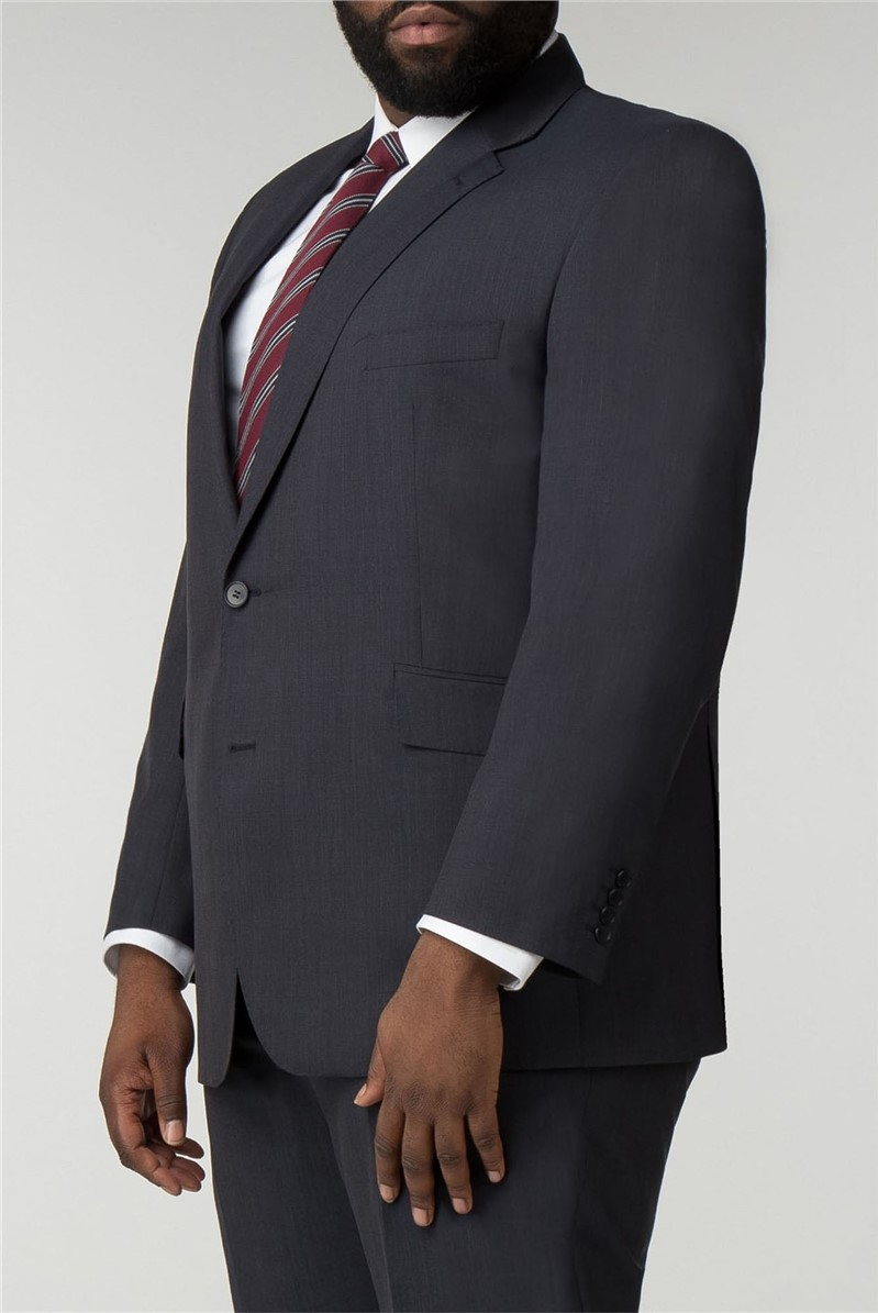 British Tailor Big+Tall Navy Semi Plain Jacket Regular Fit Suit