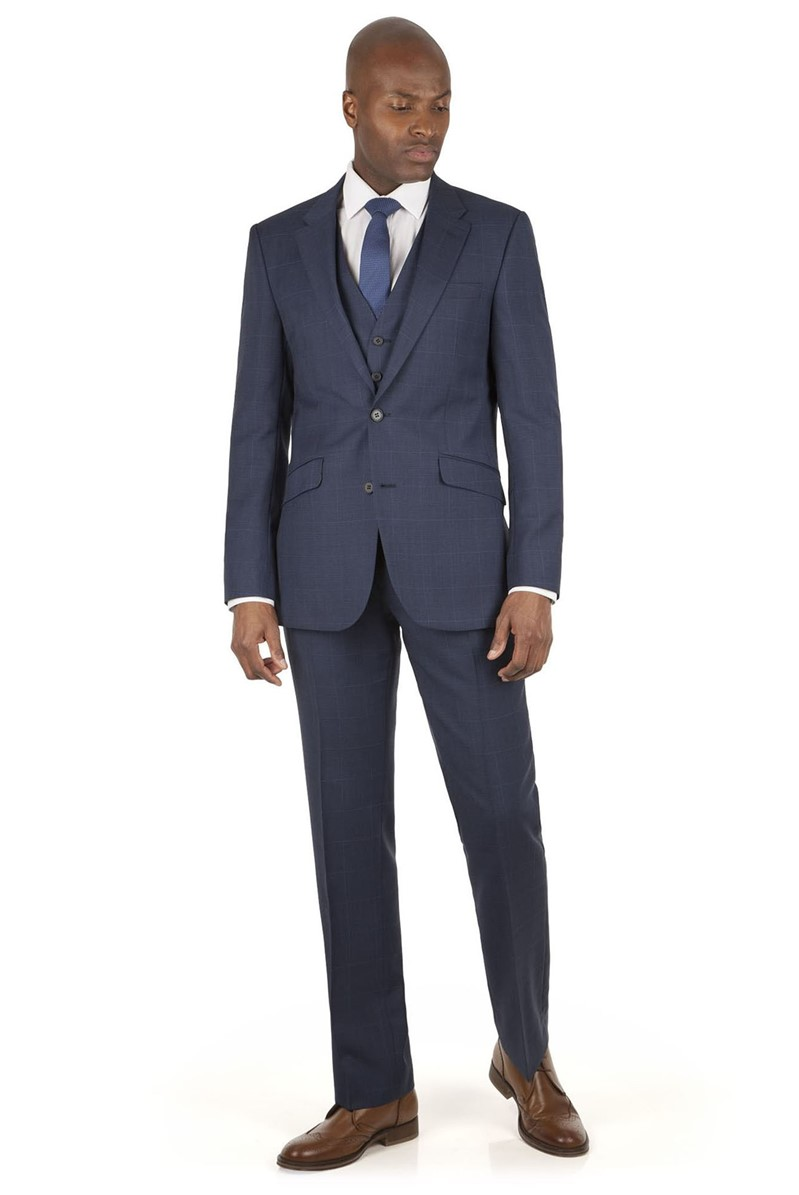 Blue Prince of Wales Check Tailored Fit Suit