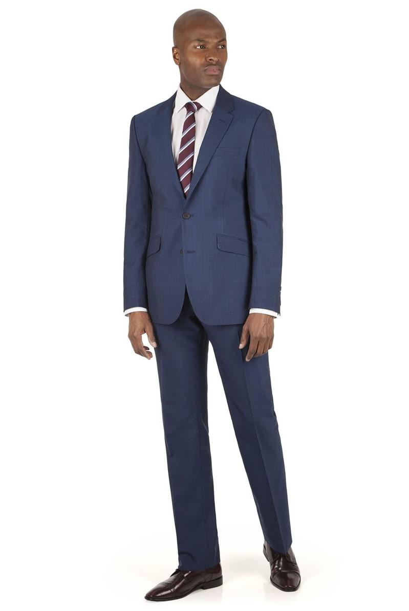 Blue Panama Tailored Fit Suit