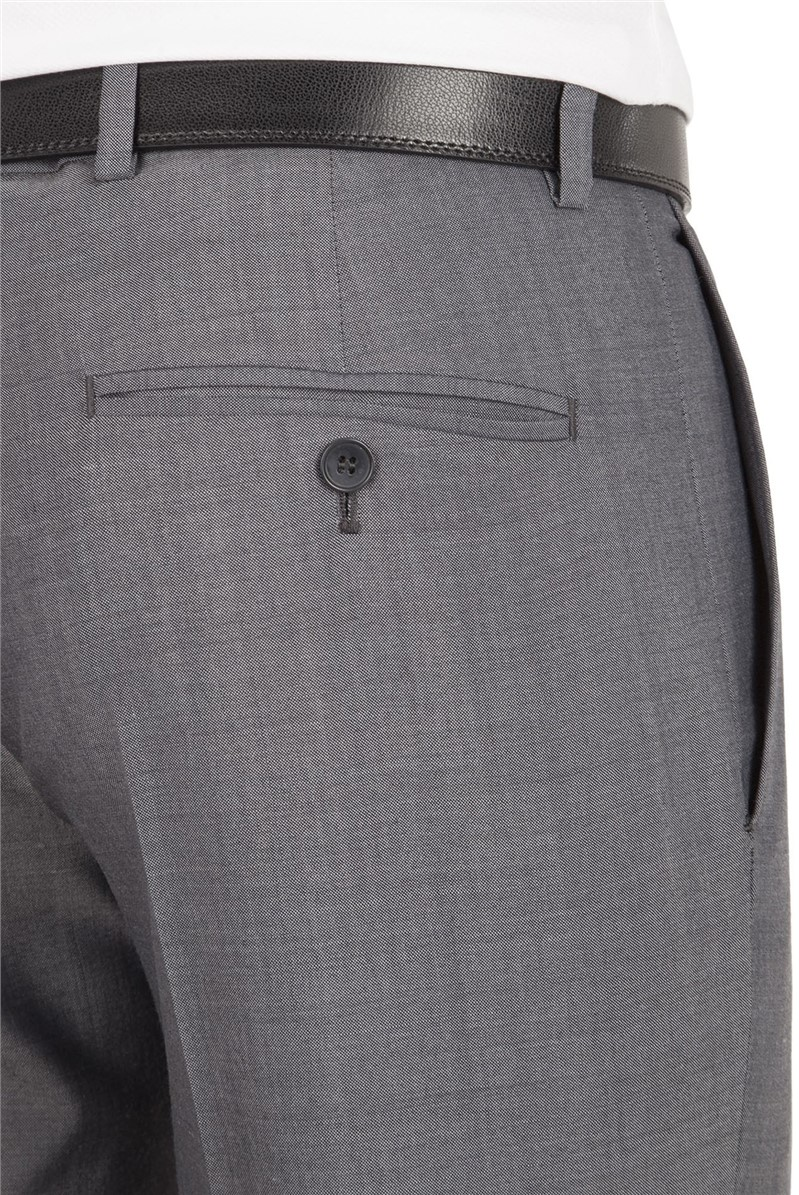 Grey Panama Tailored Fit Suit Trouser
