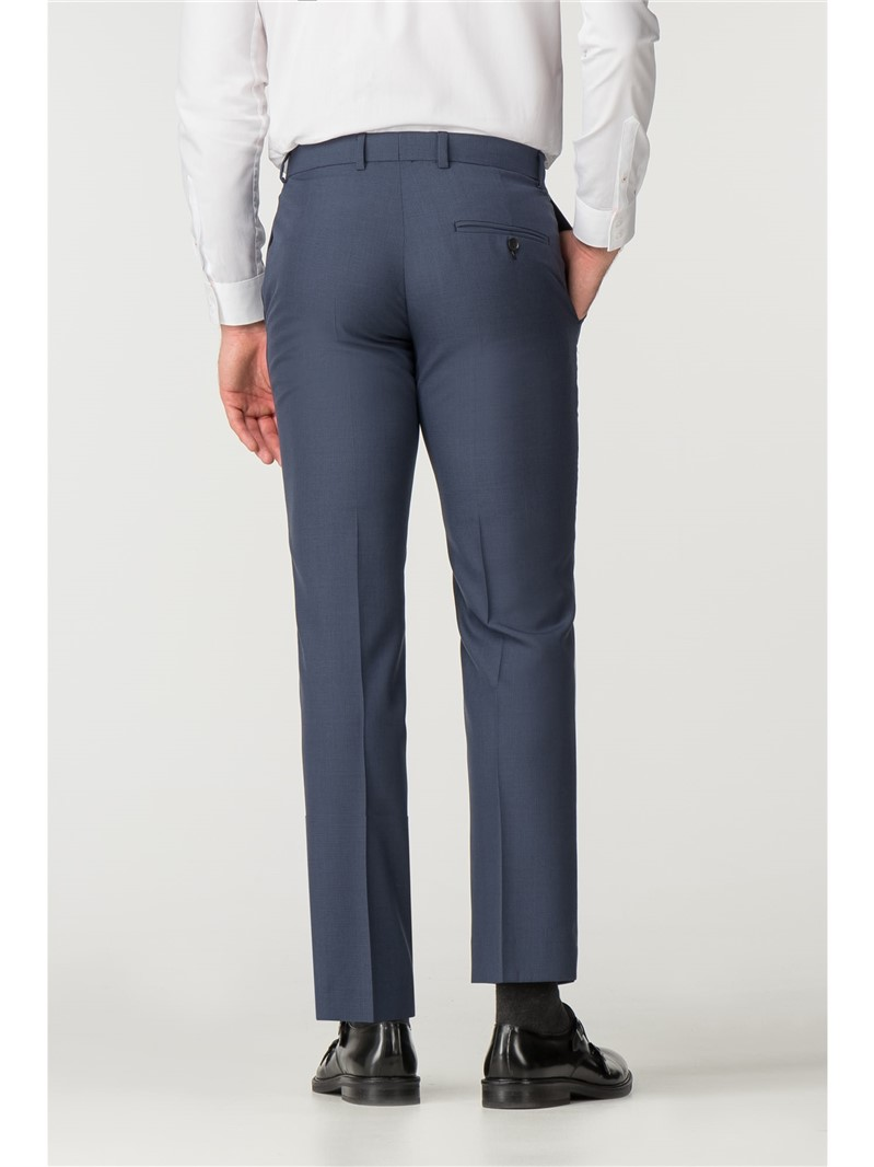Blue Tonal Puppytooth Tailored Fit Suit Trouser