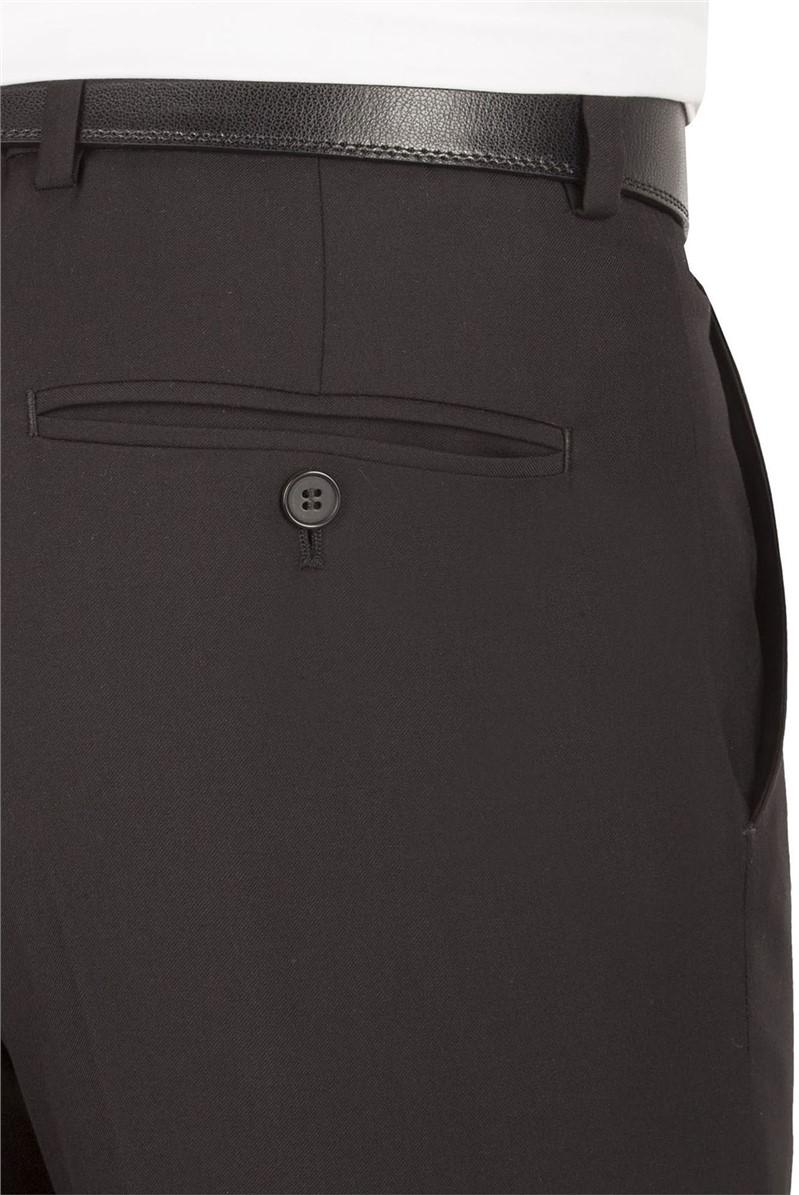 Black Twill Slim Fit Trouser