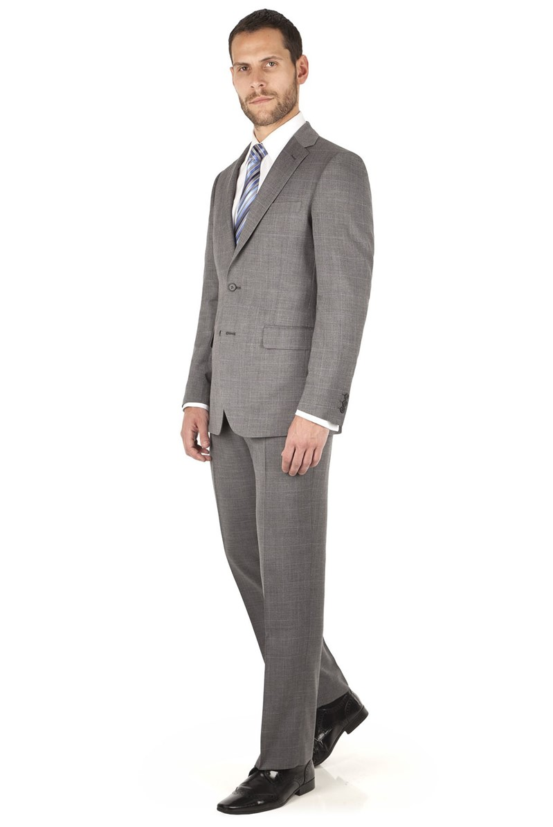 Checked Grey Regular Fit Suit