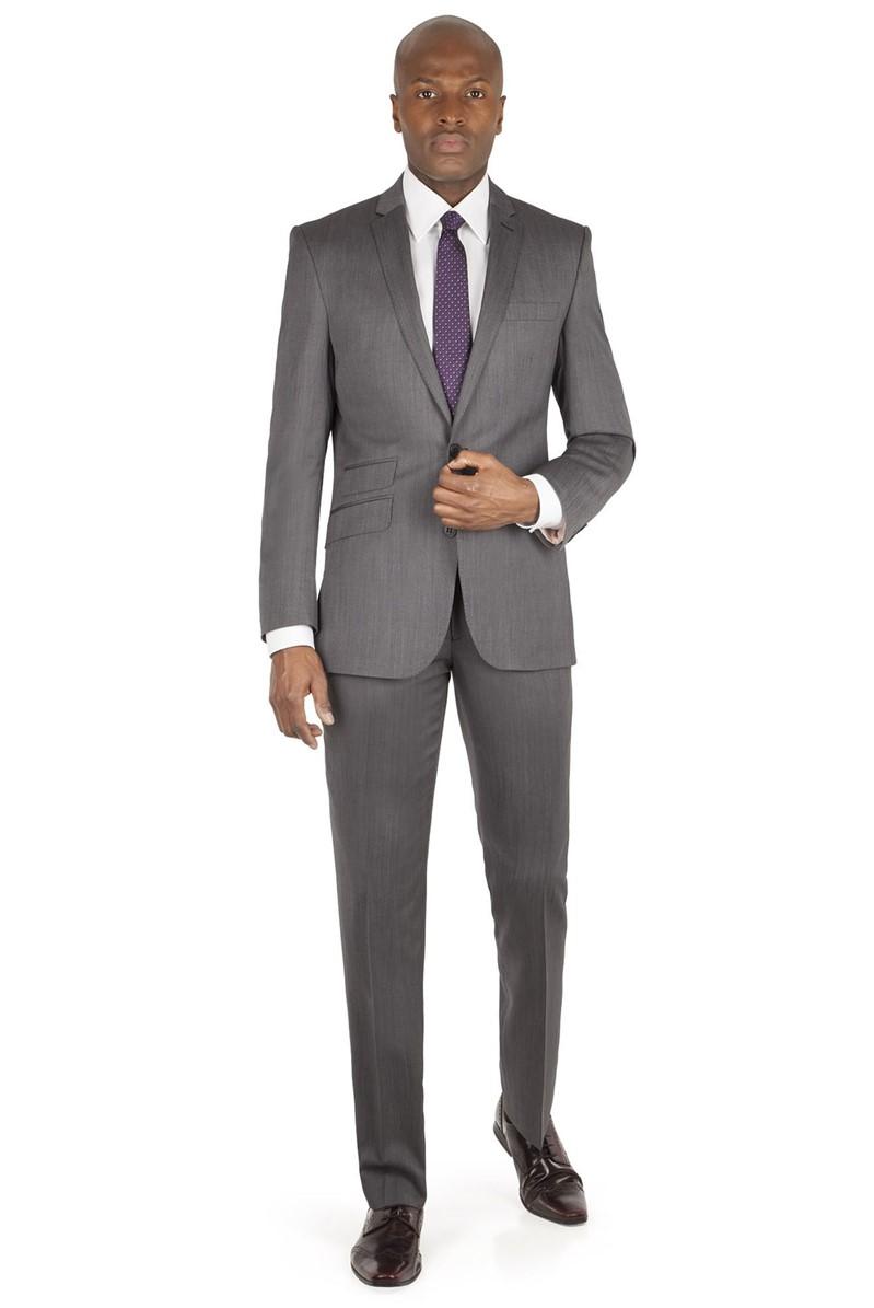 Grey Panama Tailored Fit Jacket