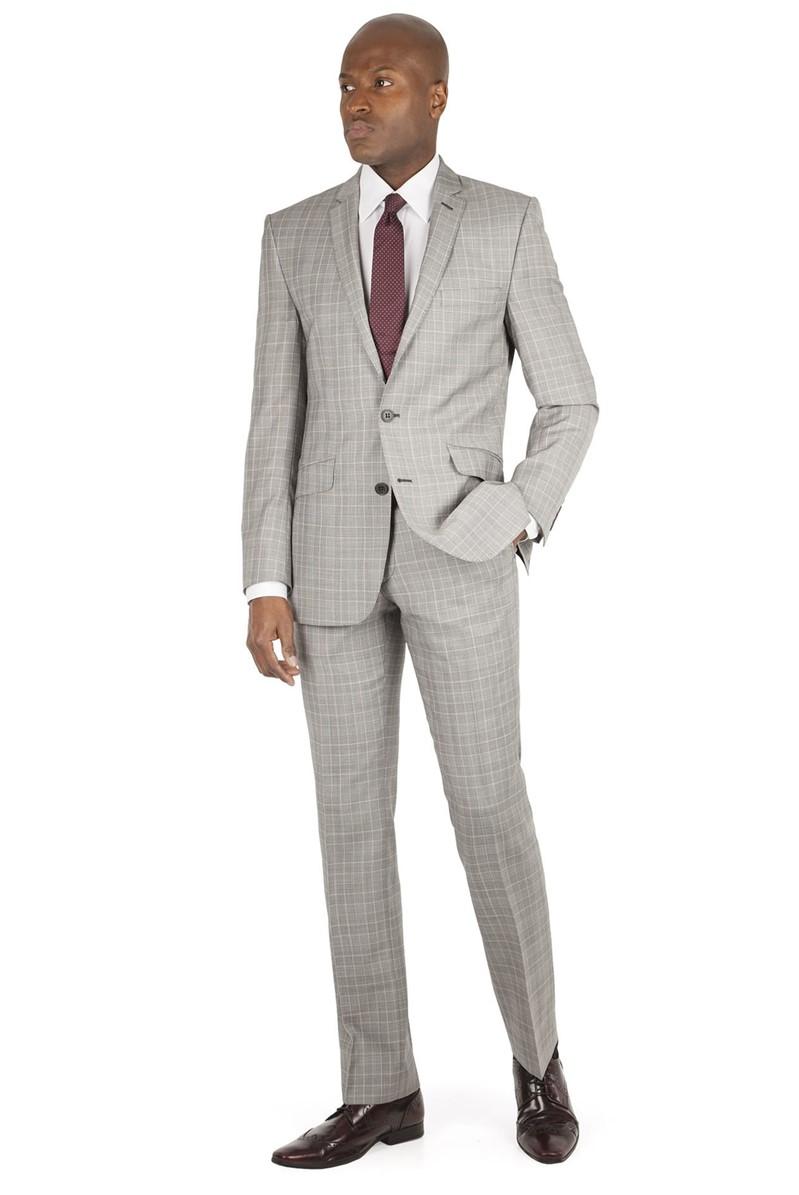 Light Grey Check Tailor Fit Suit