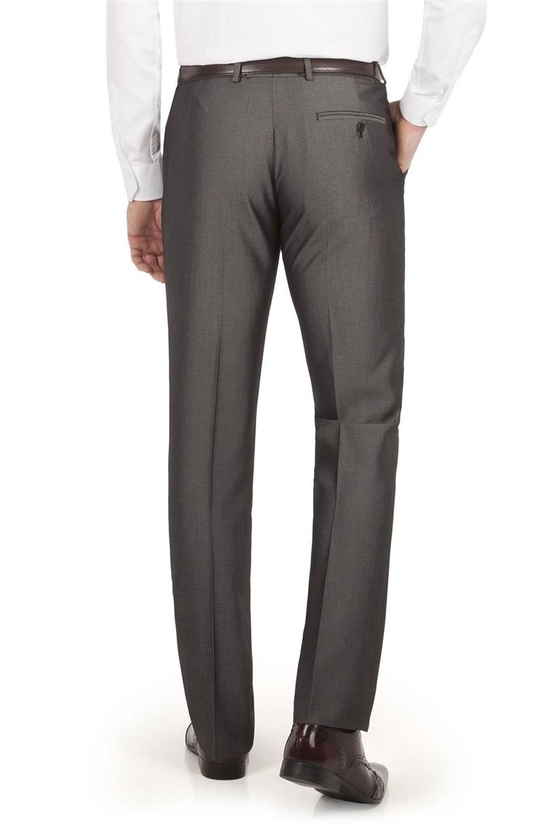 Grey Micro Slim Fit Trouser