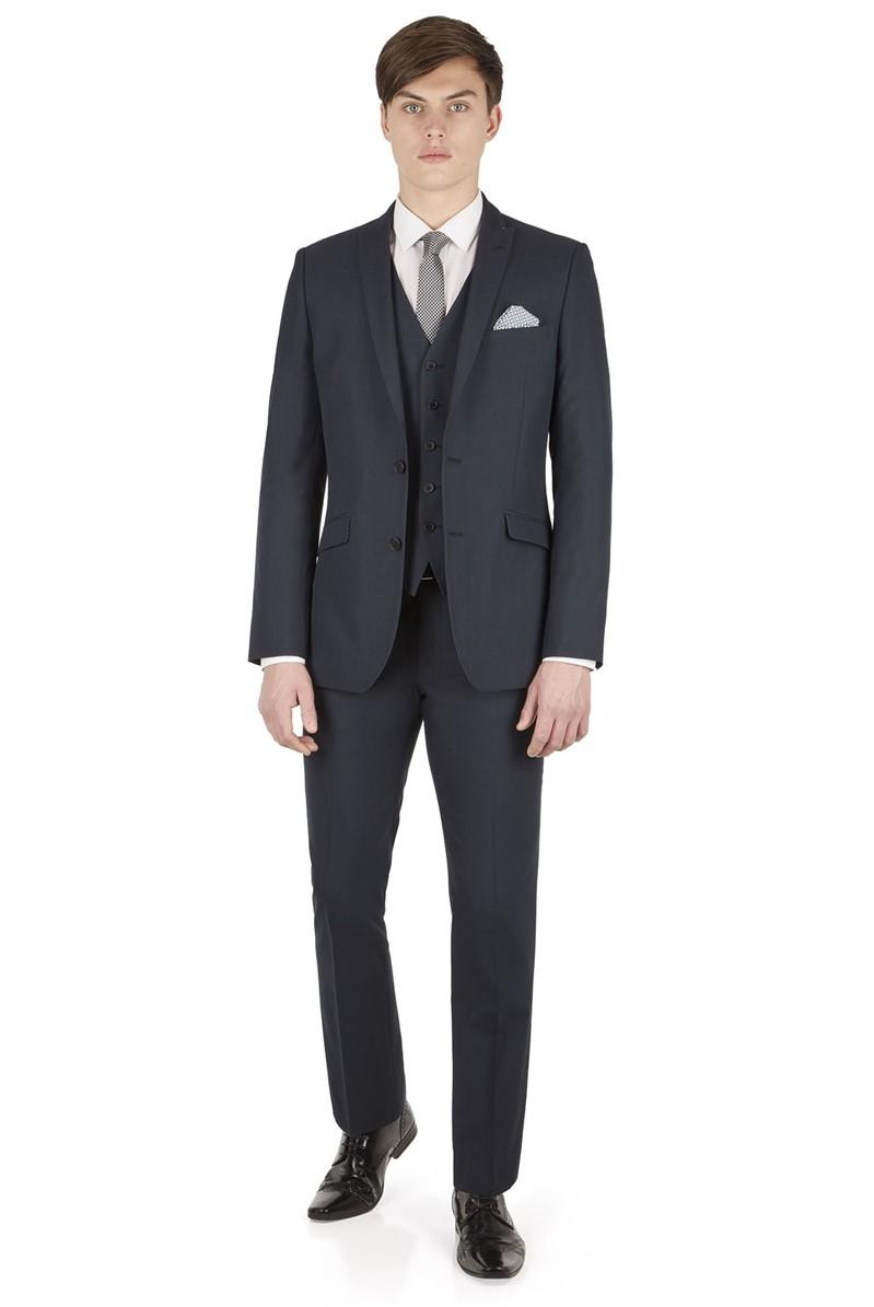 Navy Puppytooth Slim Fit Suit