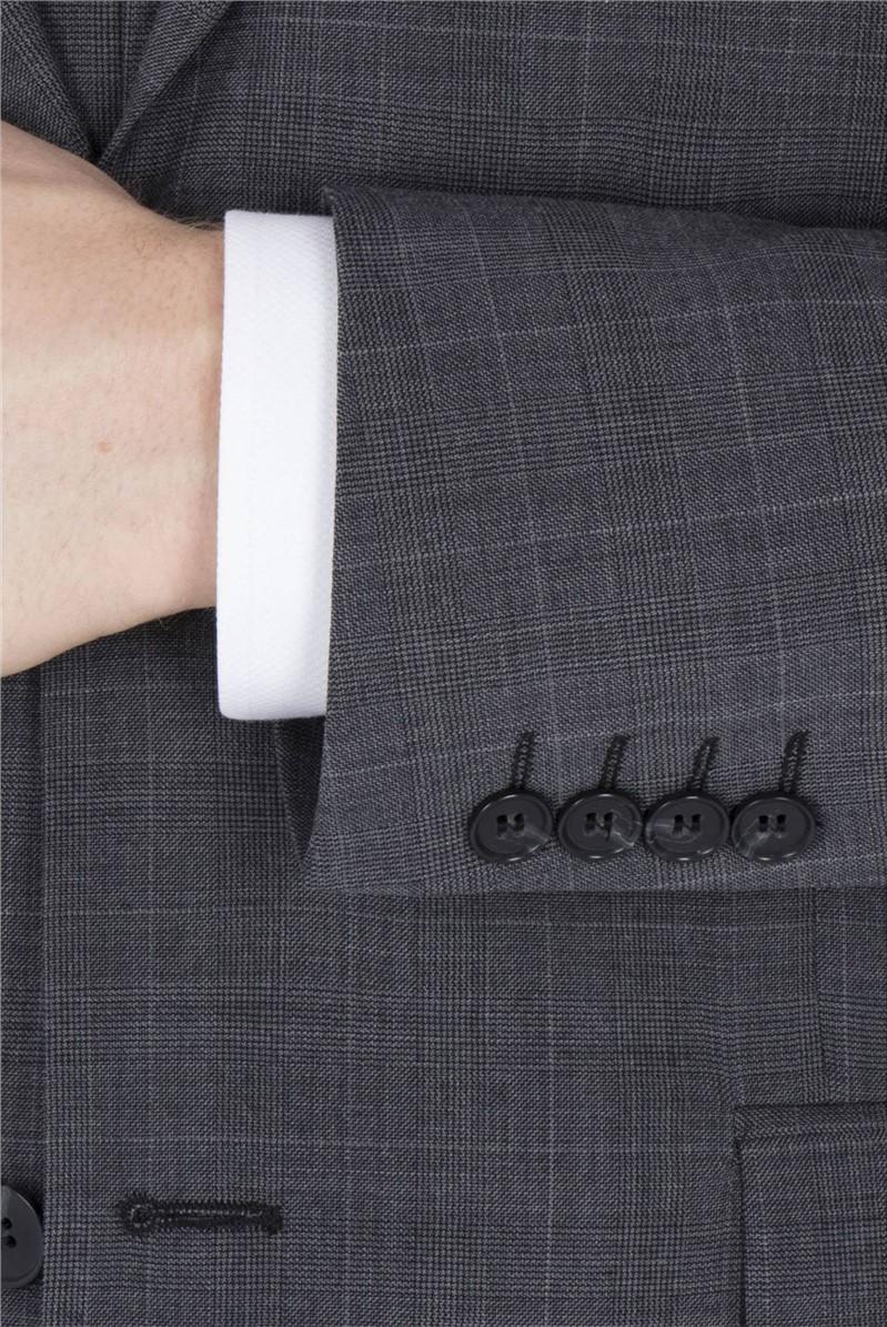 Grey Check Travel Regular Fit Suit
