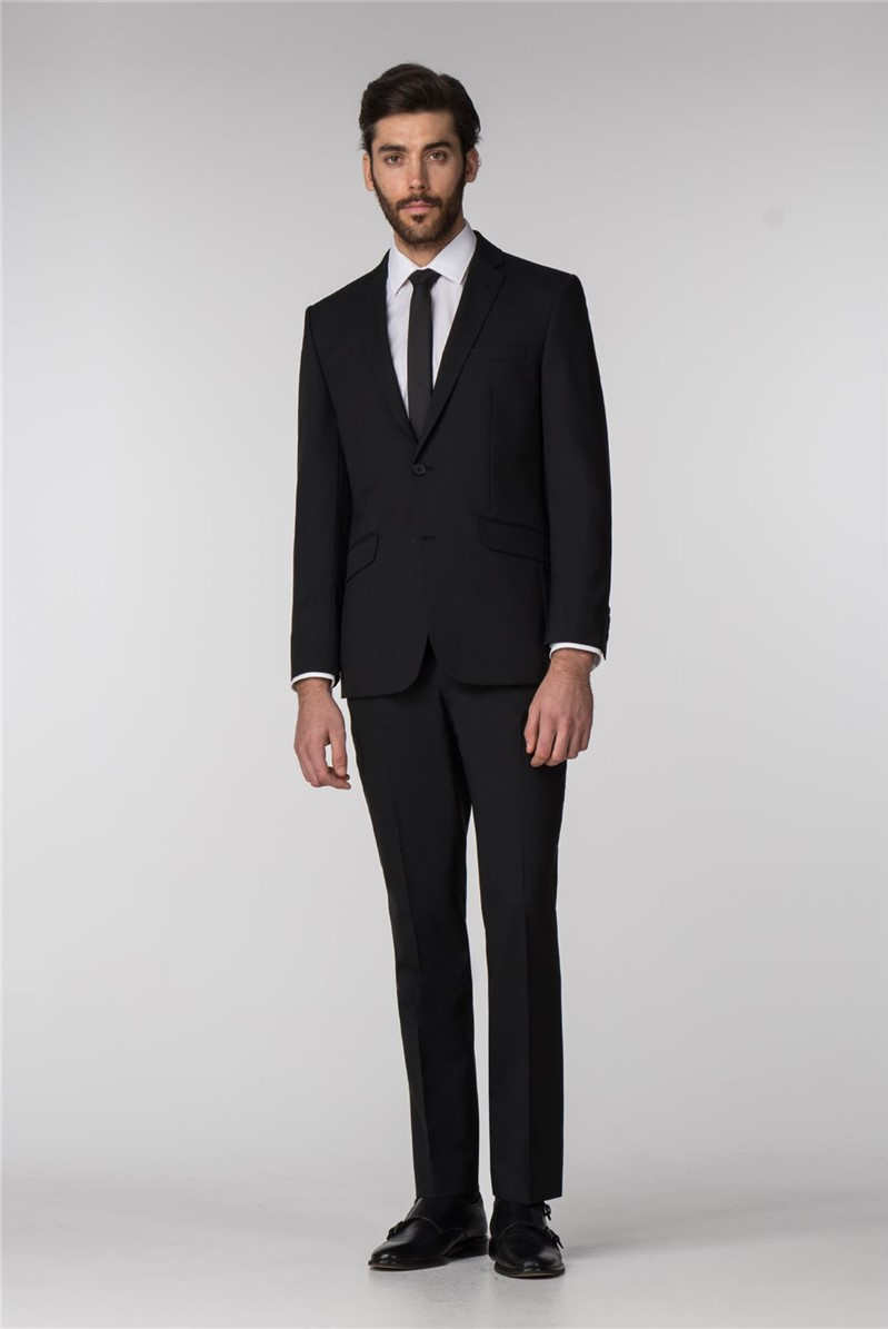 Black Panama Tailored Fit Suit