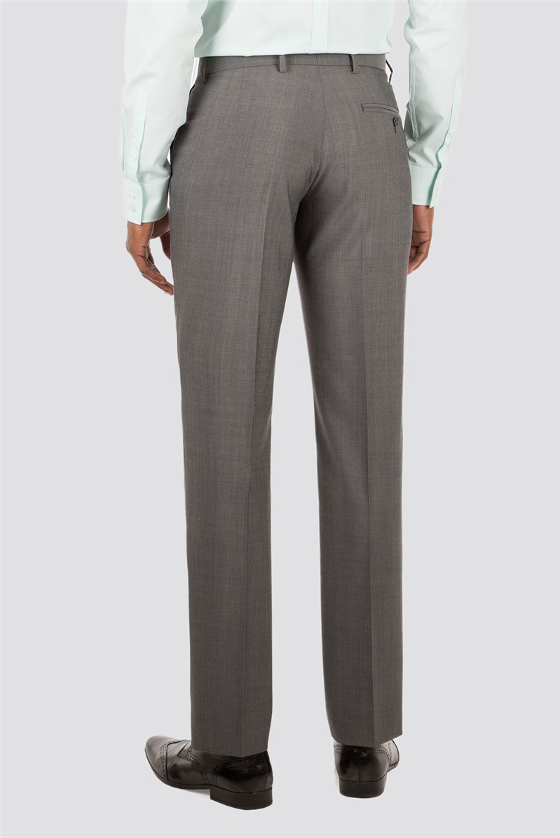 Grey Panama Tailored Fit Trouser