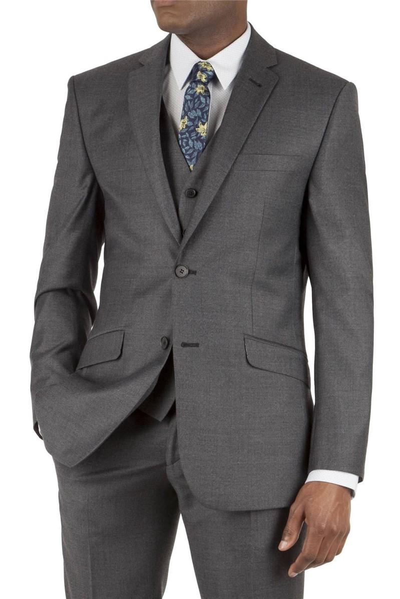Charcoal Jaspe Tailored Fit Waistcoat