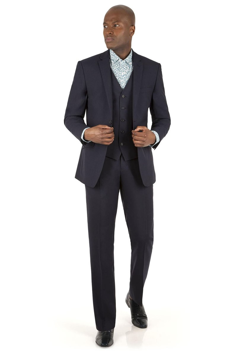 Navy Panama Tailored Fit Suit