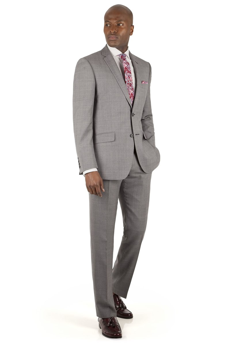 Light Grey Jaspe Check Tailored Fit Suit