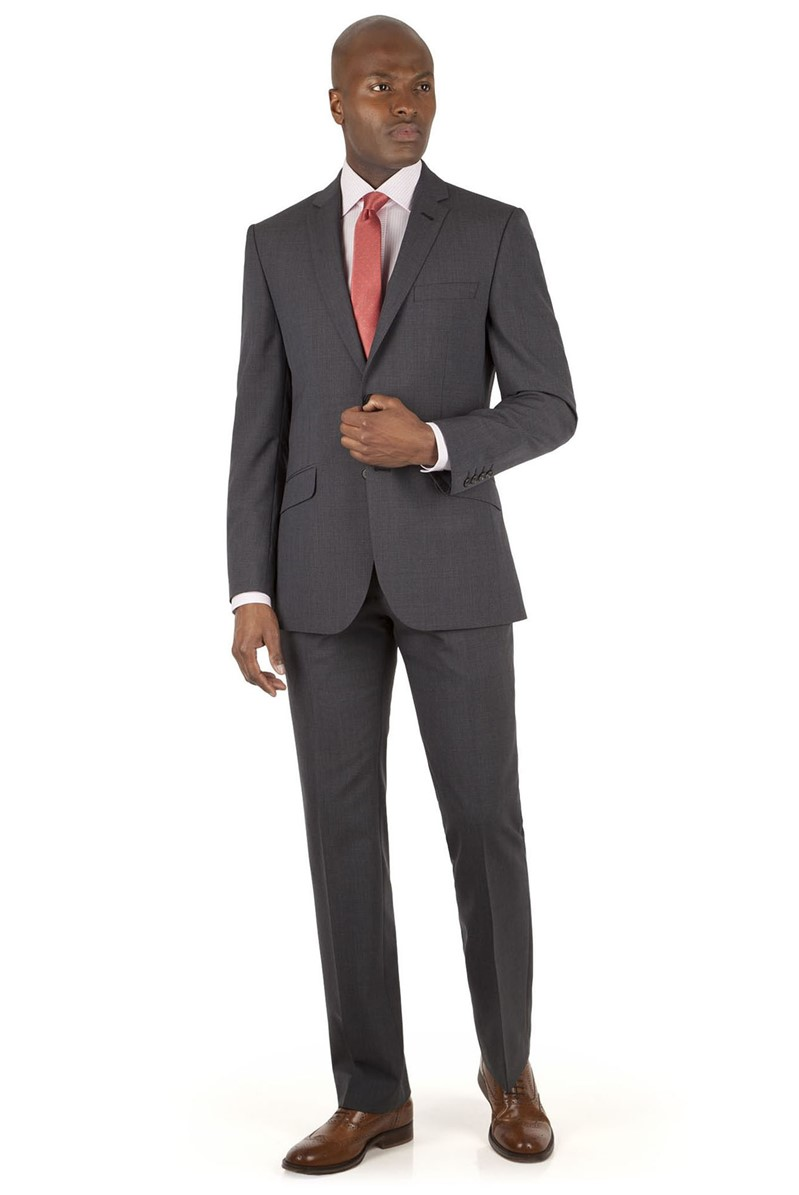 Charcoal Puppytooth Tailored Fit Suit