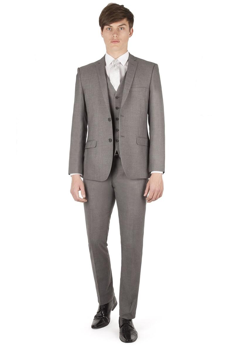 Occasions Grey Plain Slim Fit Suit