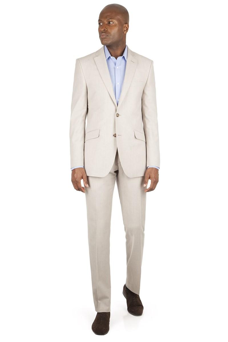Oatmeal Linen Blend Suit