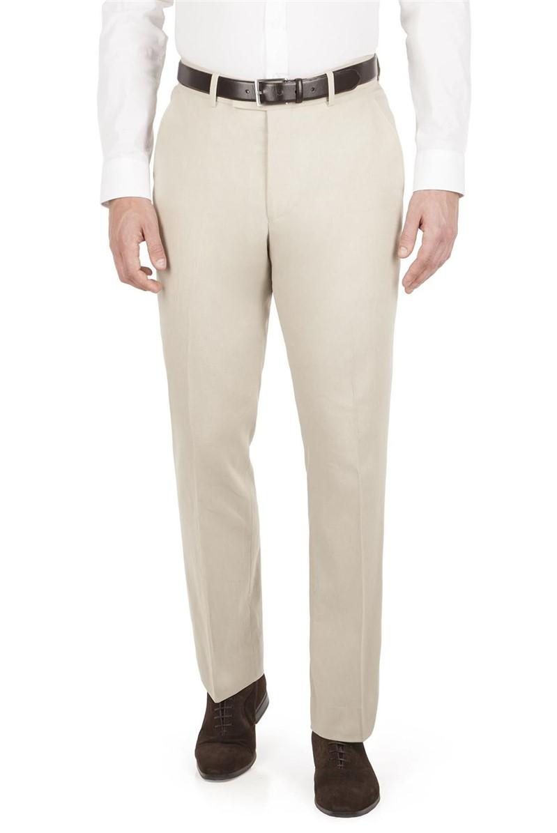 Stone Linen Mix Regular Fit Trouser