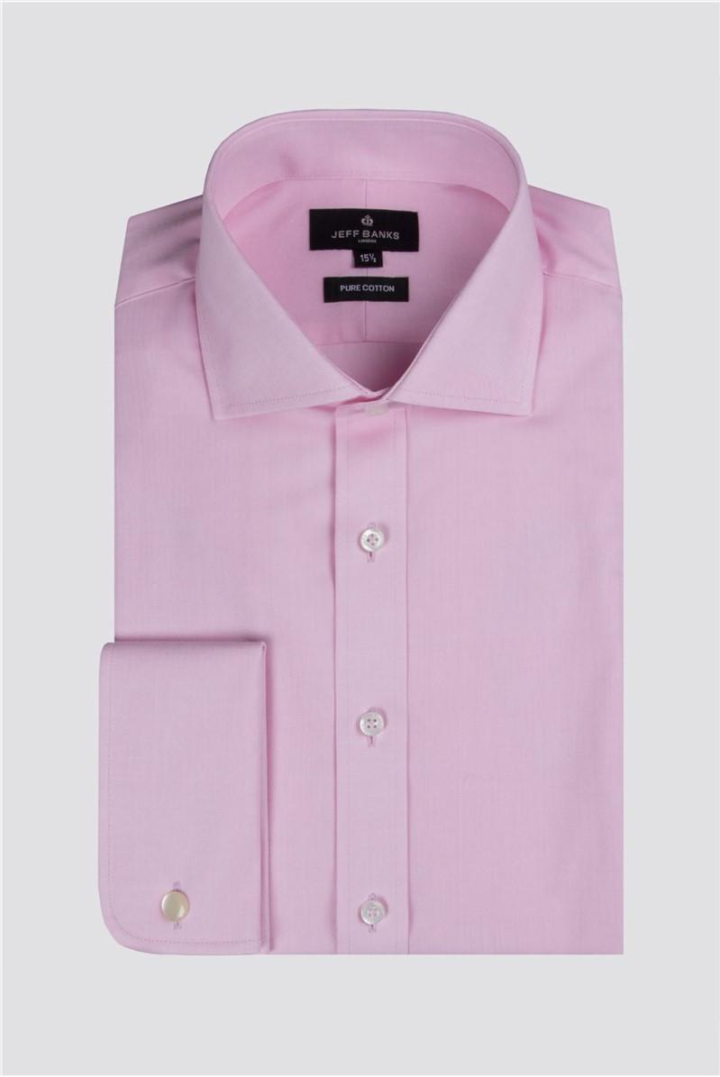 Pink Herringbone Shirt