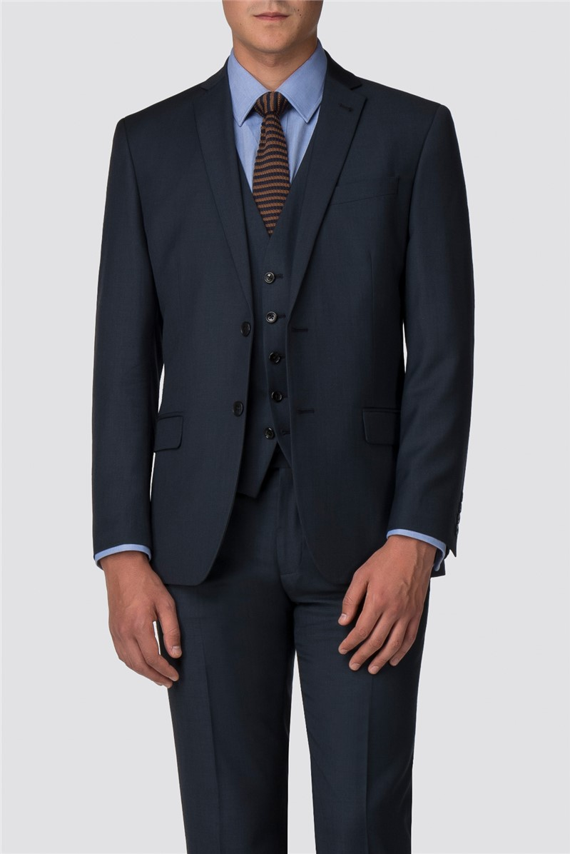 Deep Blue Pick and Pick Tailored Suit