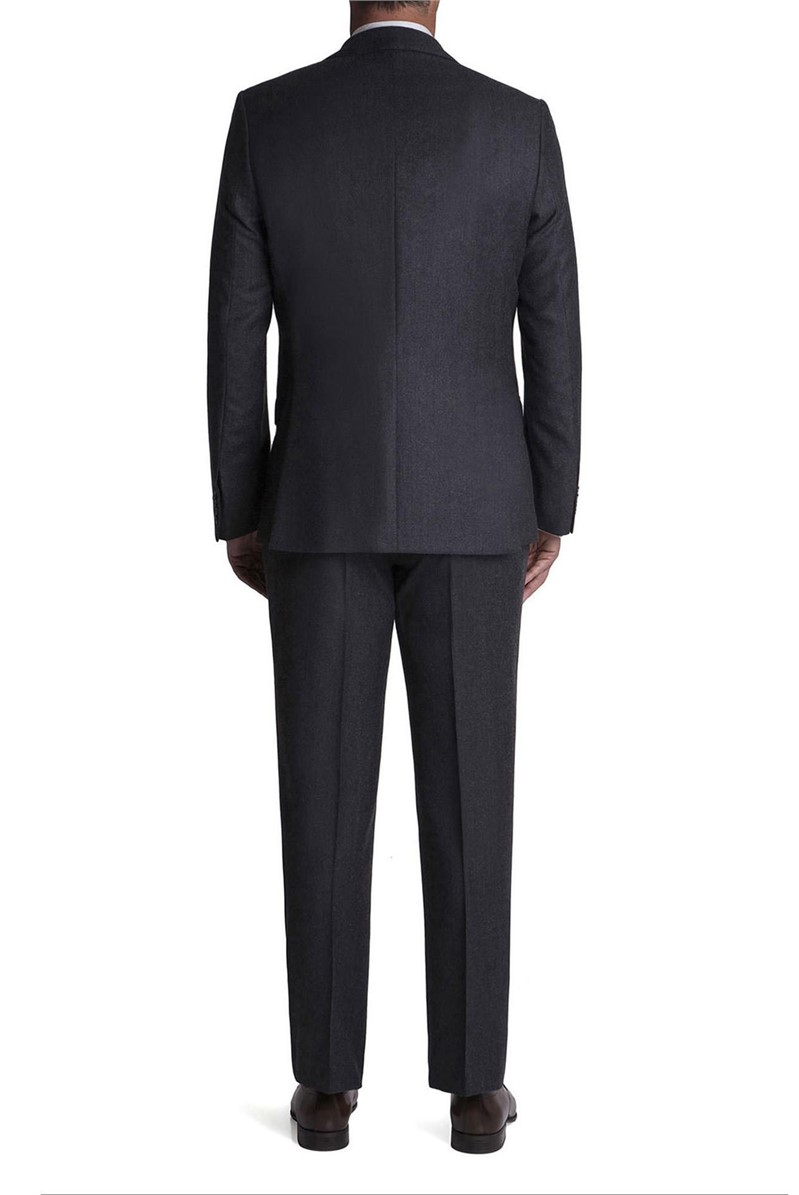 Stvdio Grey Jacquard Flannel Tailored Fit Suit