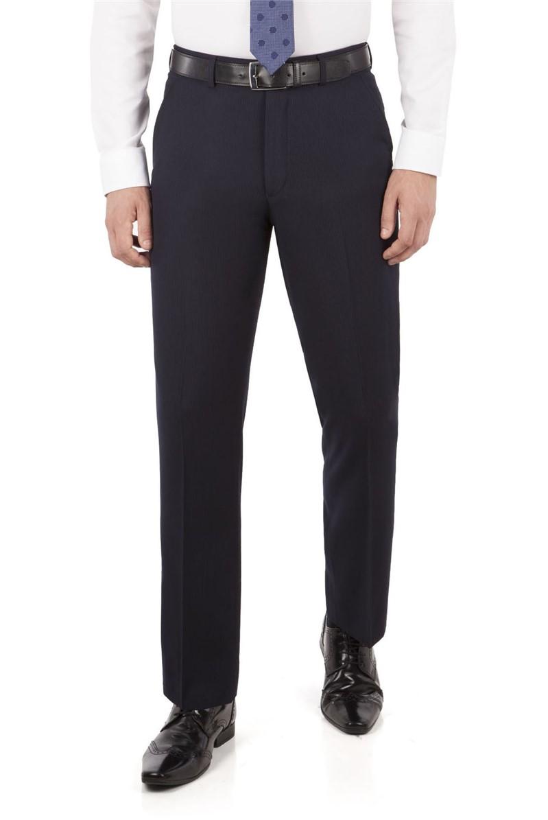 Navy Fine Stripe Regular Fit Suit Trouser