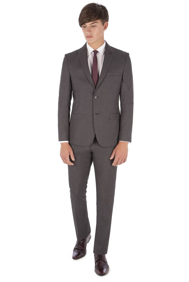 Grey Puppytooth Slim Fit Suit