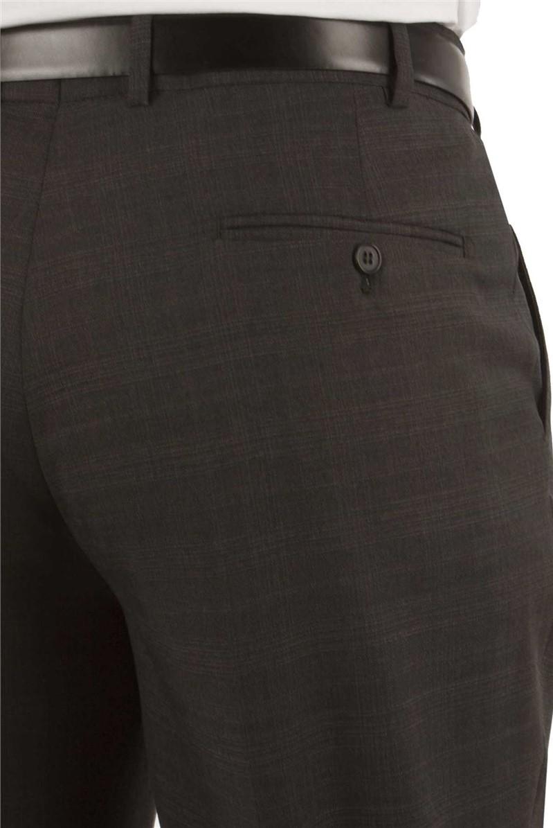 Charcoal Check Regular Fit Suit Trouser