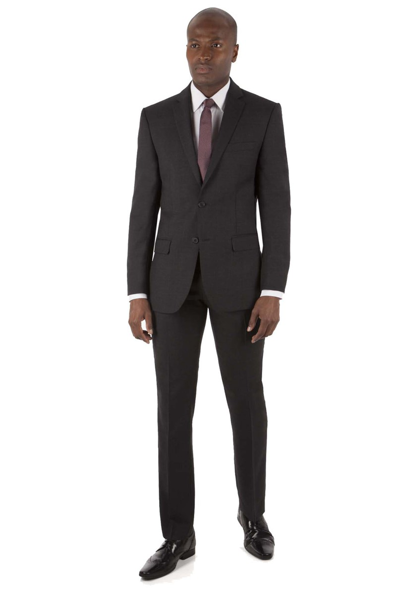Charcoal Prince of Wales Check Tailored Fit Jacket