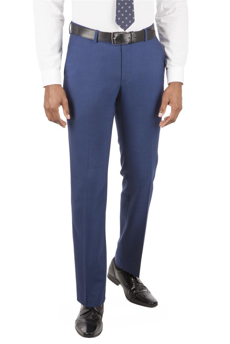 Bright Blue Tailored Fit Suit Trouser