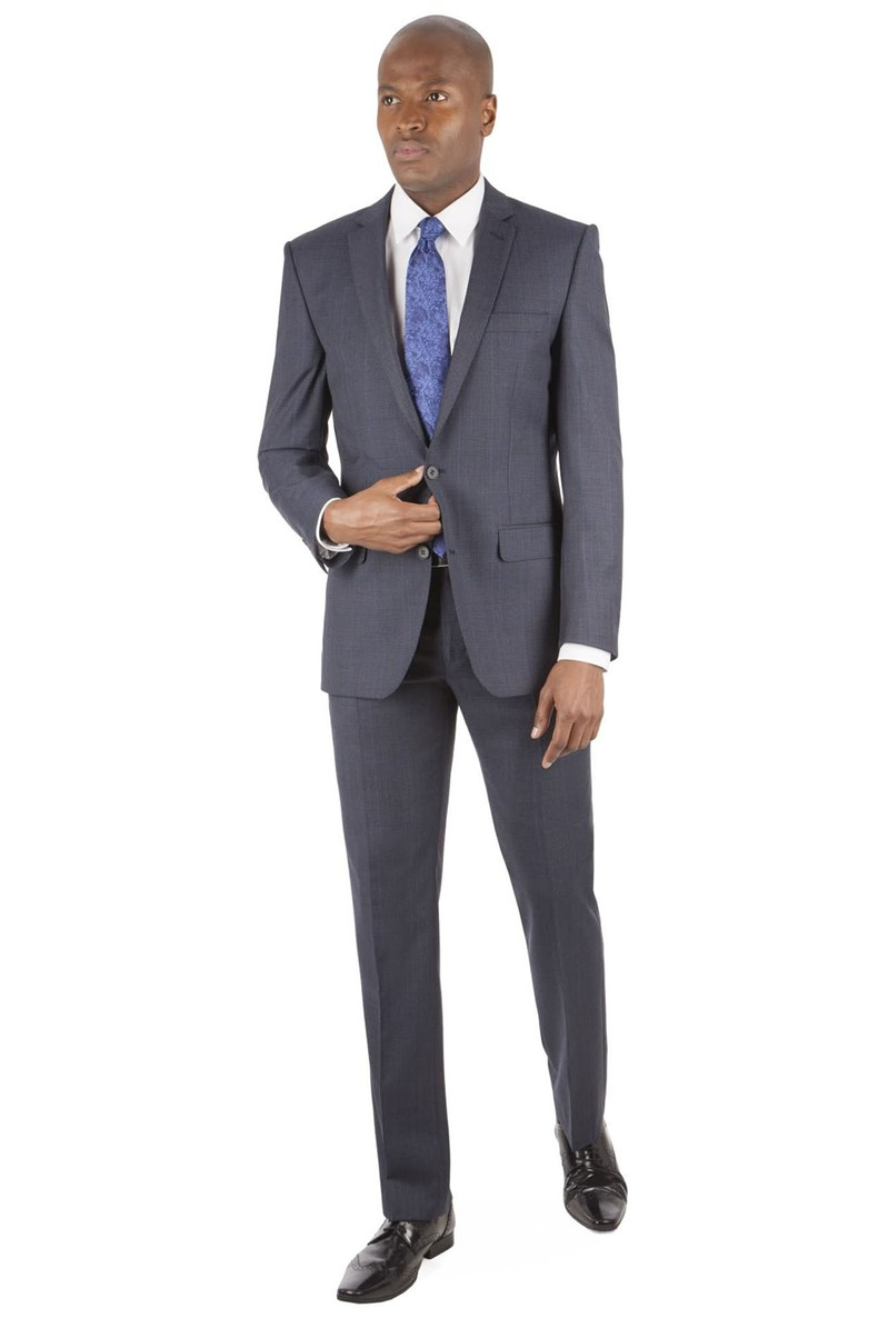 Navy Prince of Wales Check Tailored Fit Suit