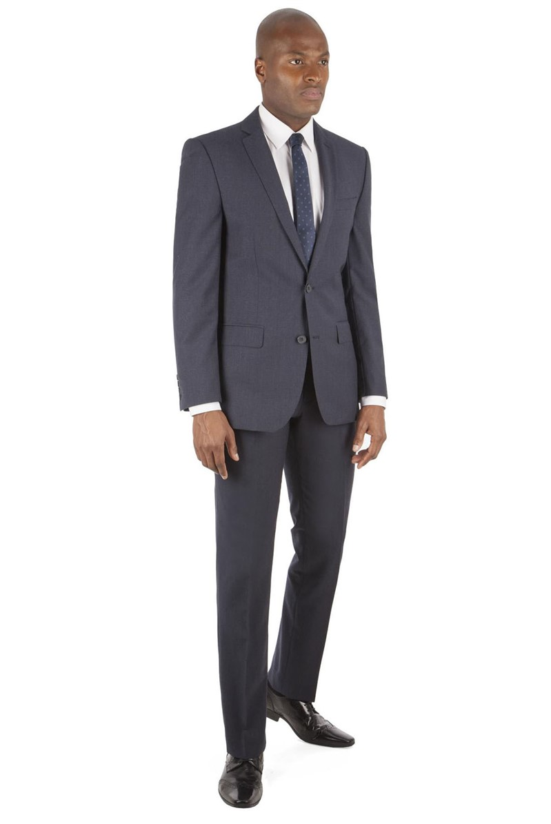 Navy Micro Design Tailored Fit Suit
