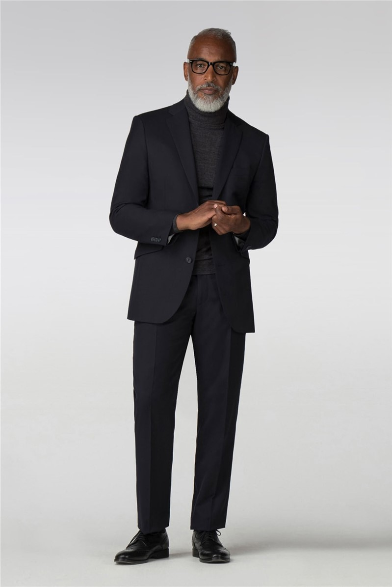 Performance Navy Twill Regular Fit Suit