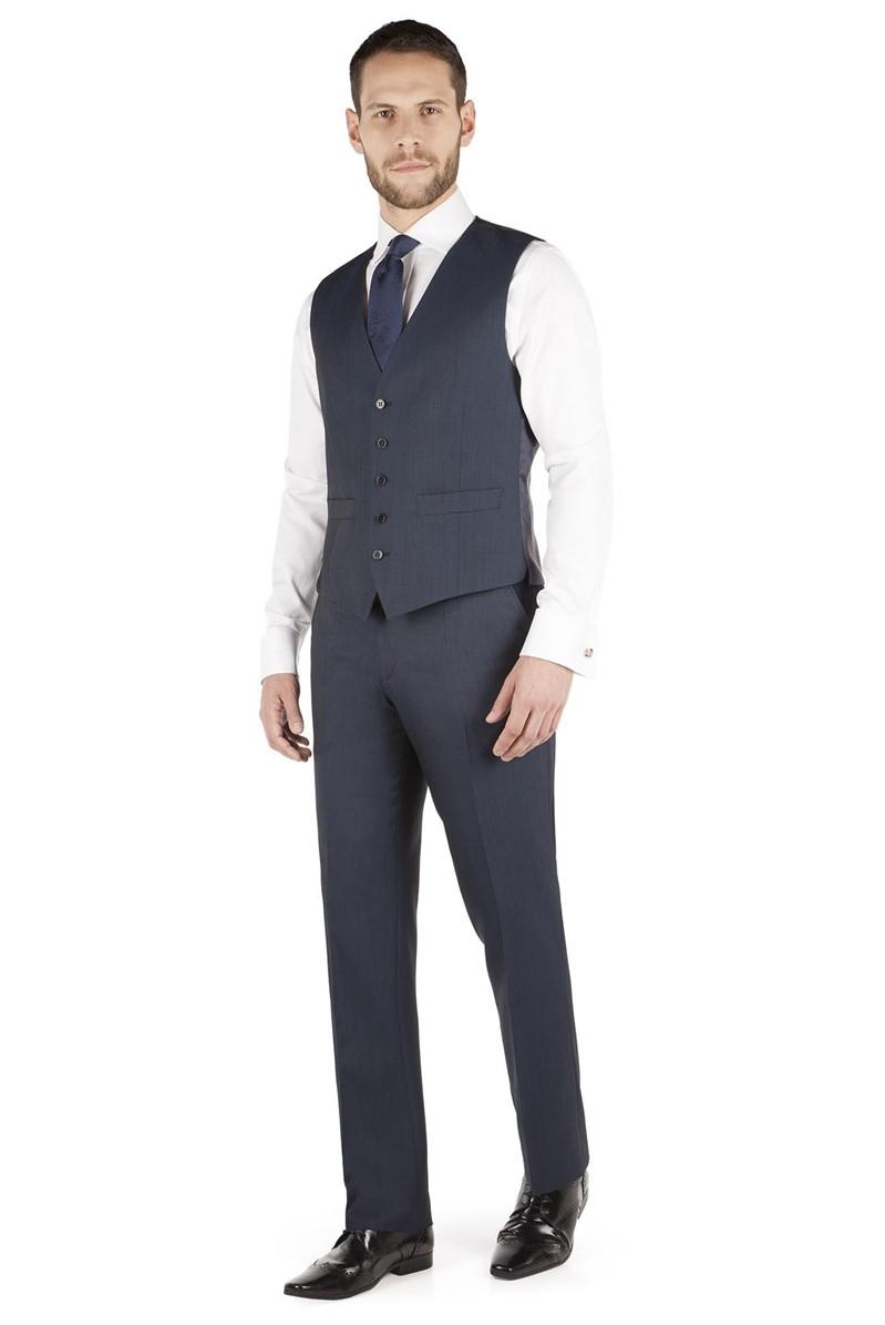 Performance Blue Tonic Twill Regular Fit Waistcoat