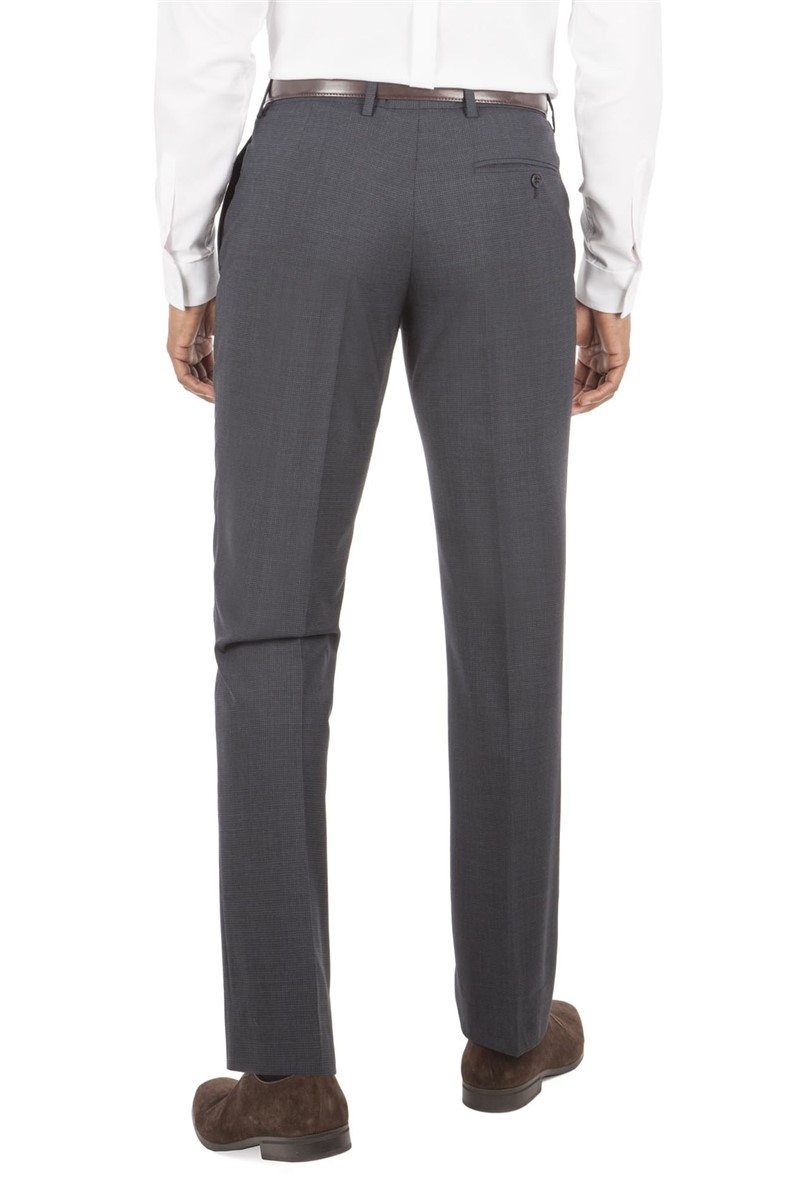Navy Micro Check Tailored Fit Suit Trouser