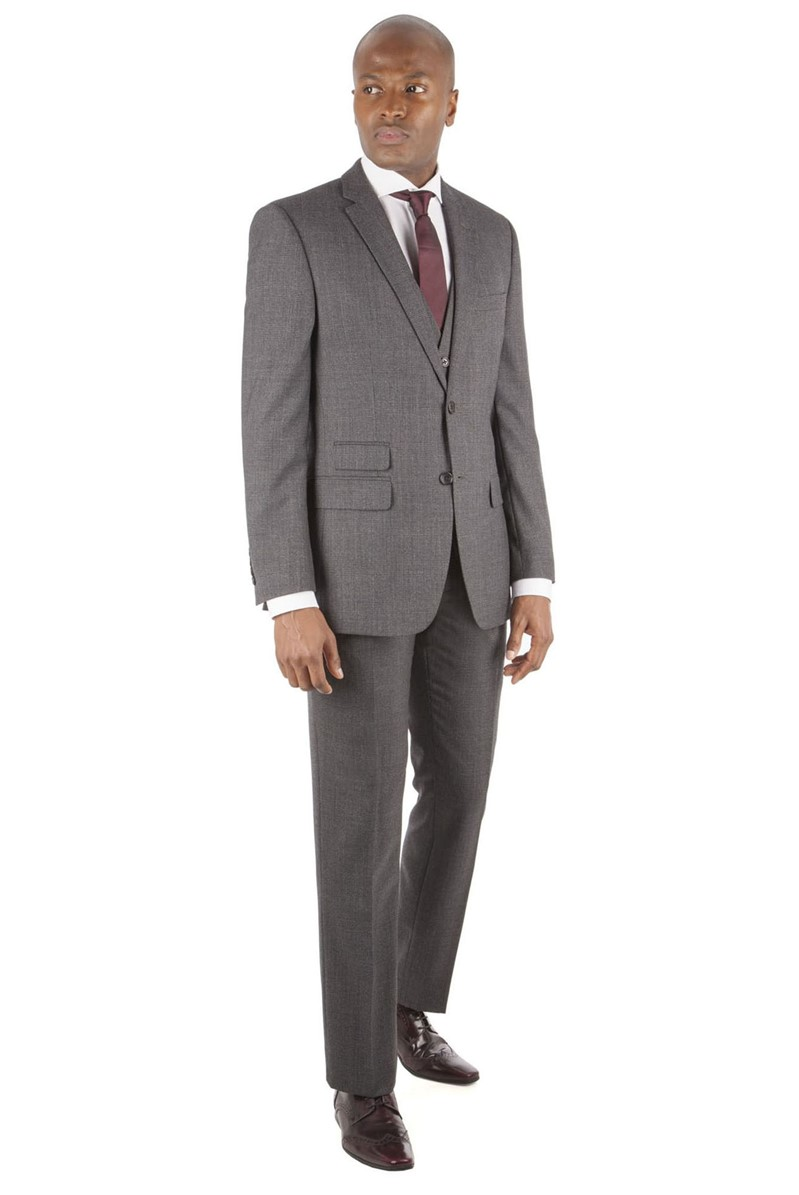 Charcoal Flannel Check Tailored Fit Suit