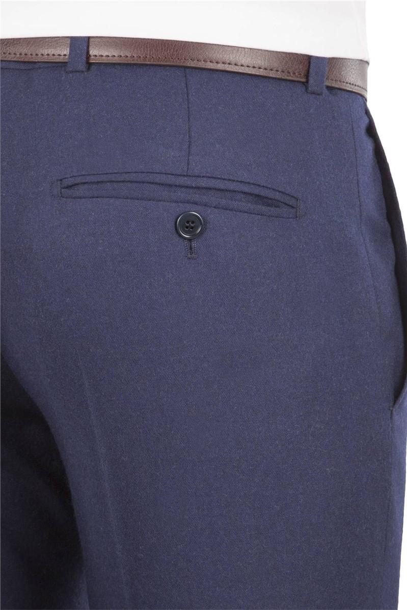Blue Flannel Tailored Fit Suit Trouser