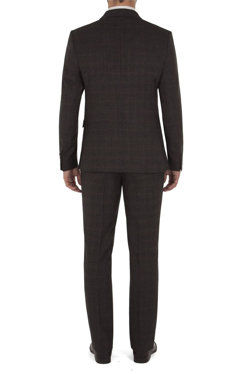 Stvdio Grey Red Overcheck Double Breasted Ivy League Suit