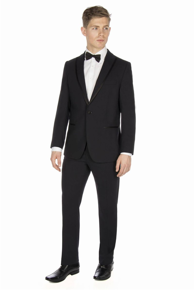 Studio Navy Plain Tailored Fit Dinner Suit