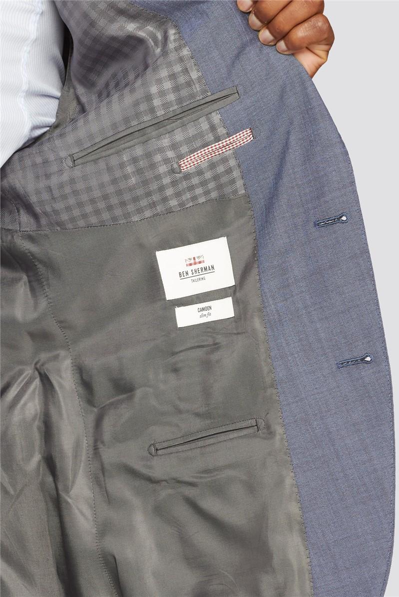 Men's Petrol Blue Slim Fit Suit Jacket