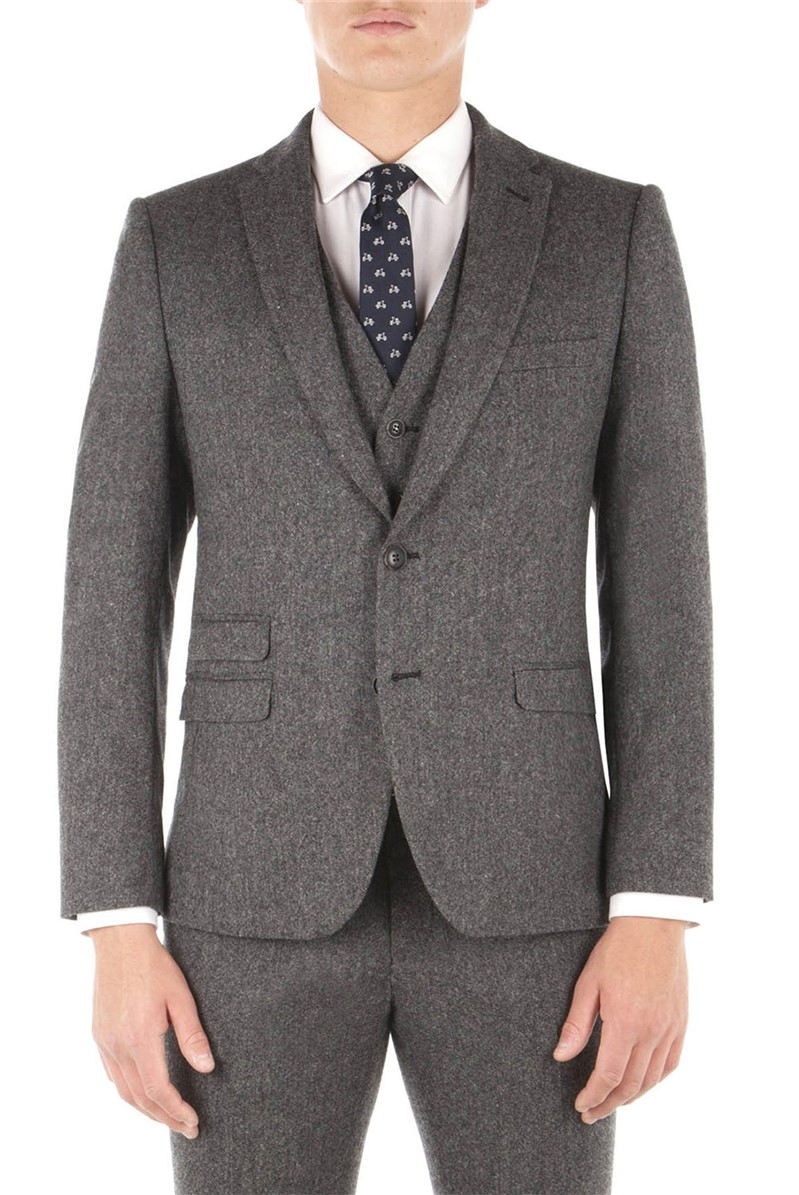 Smoked Pearl British Tweed Camden Fit Suit