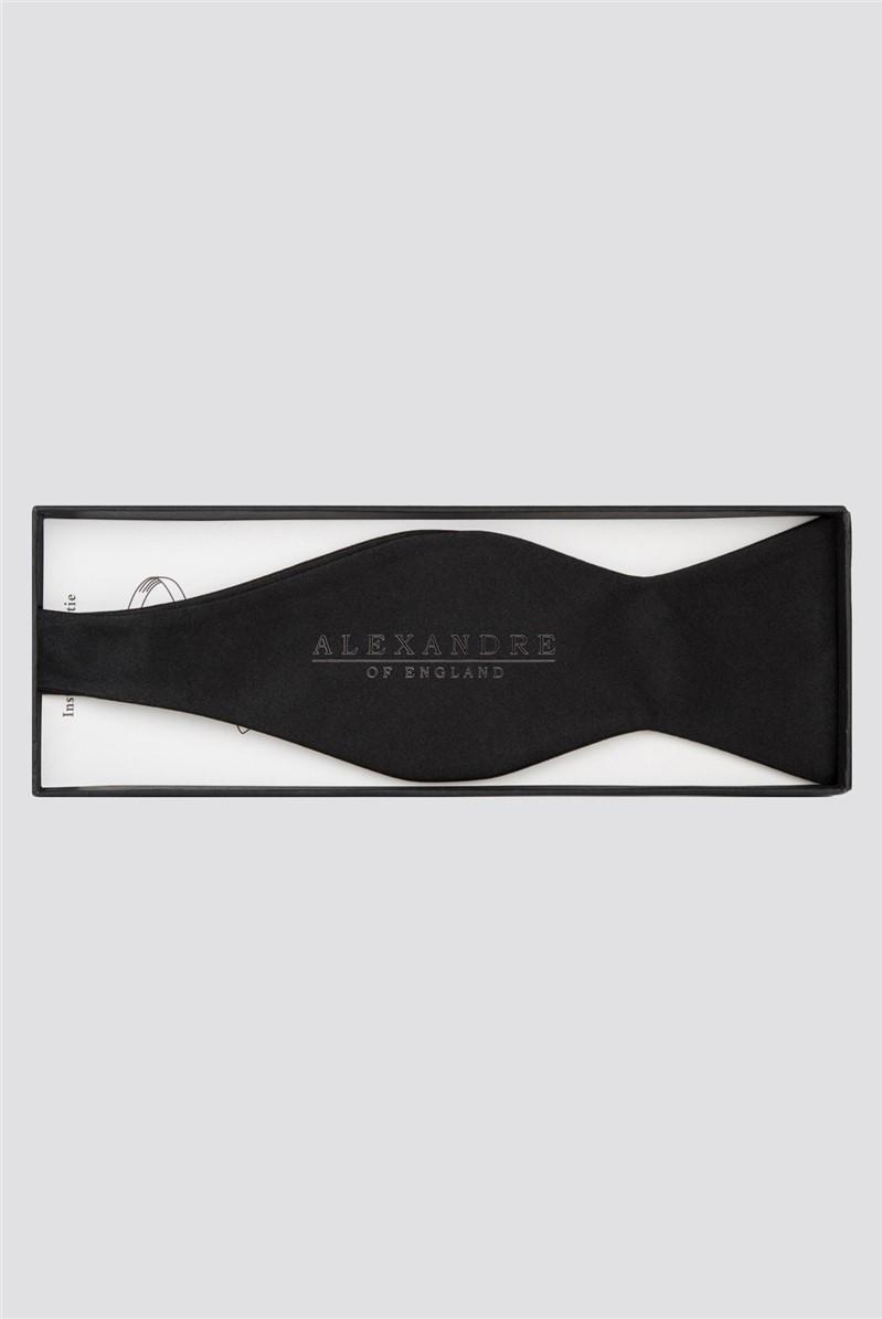 Silver Label Black Pre-Tied Bow Tie