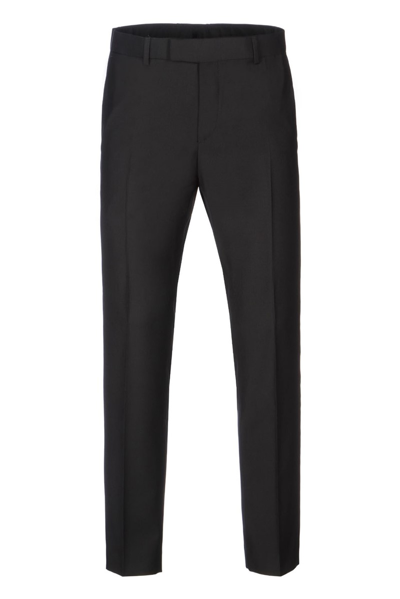 Black Crossgrain Peak Lapel Dinner Suit