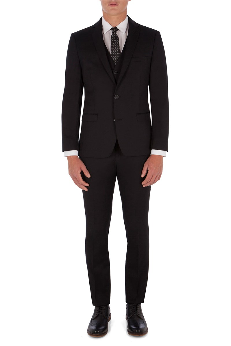 Black Twill King's Fit Suit