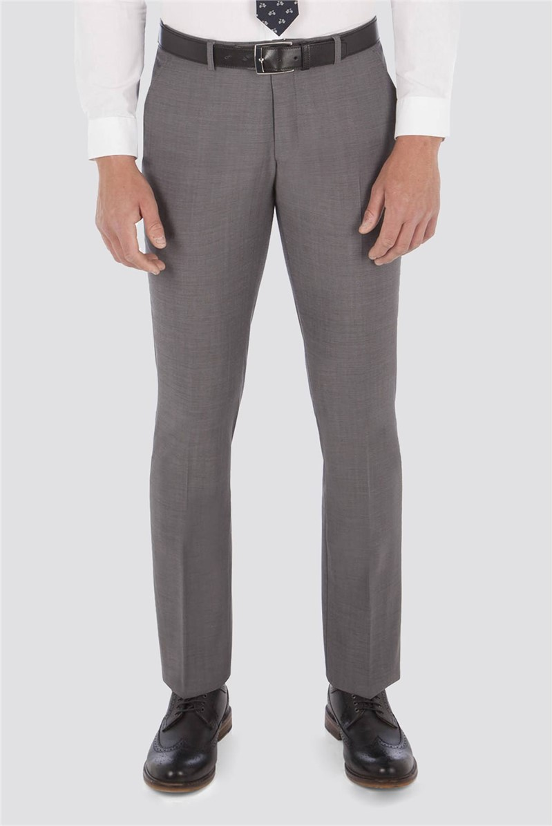 Smoked Pearl Twill Slim Fit Trousers