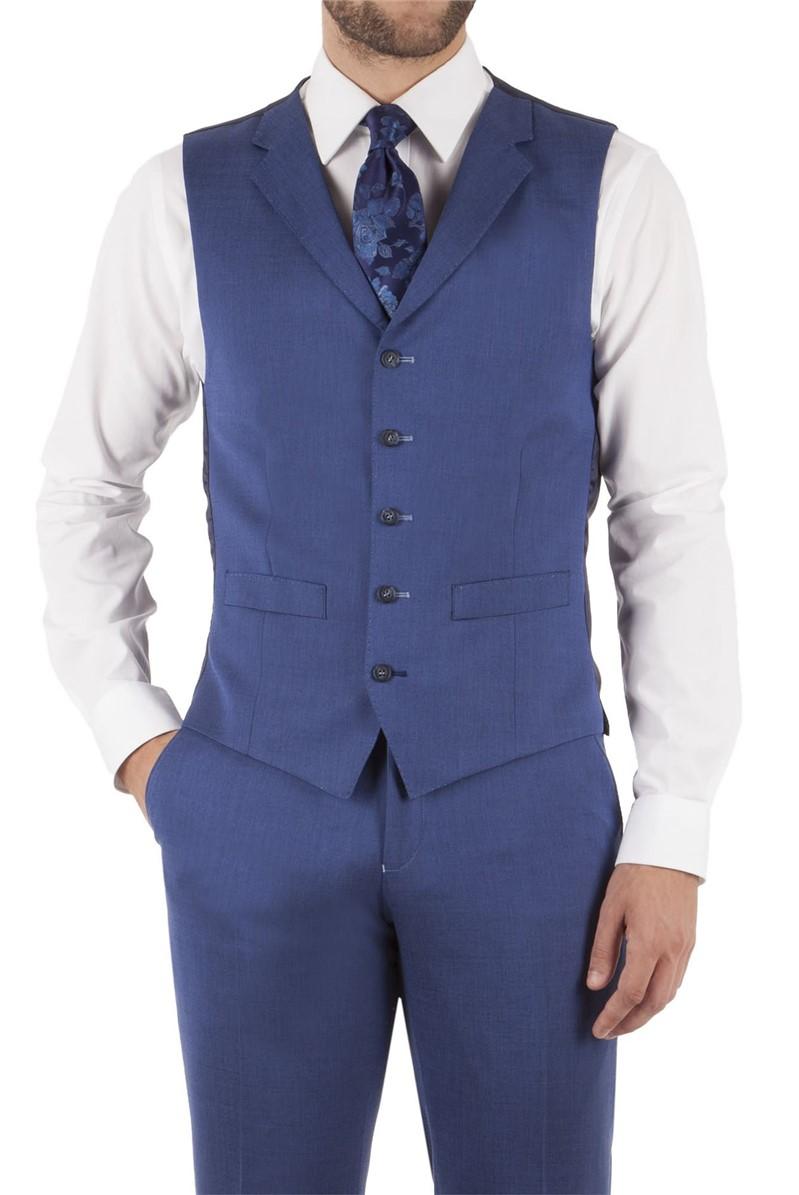 Denim Blue Slim Fit Waistcoat