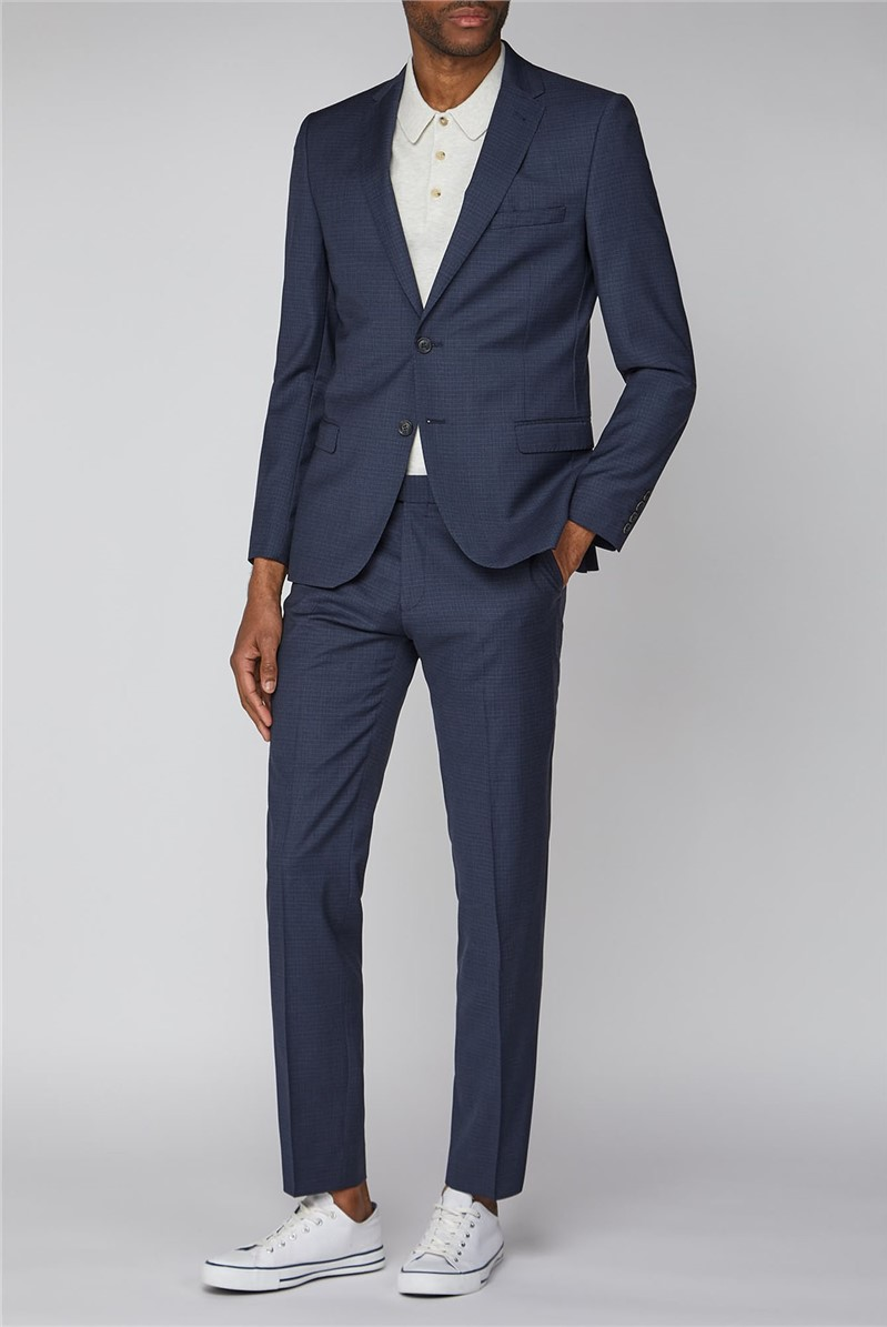 Charcoal Contrast Gingham Suit